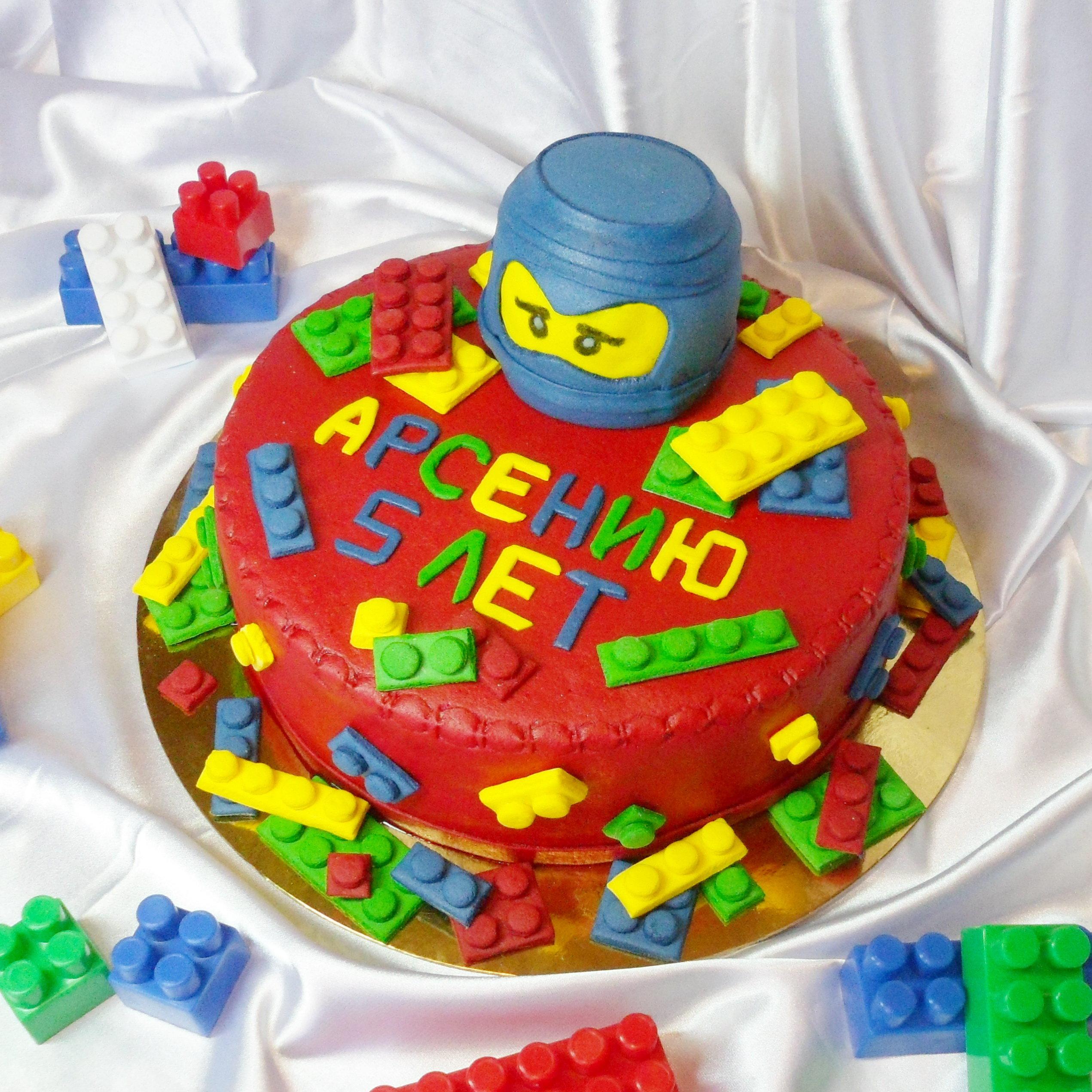 Торт Лего Ниндзяго из мастики 85