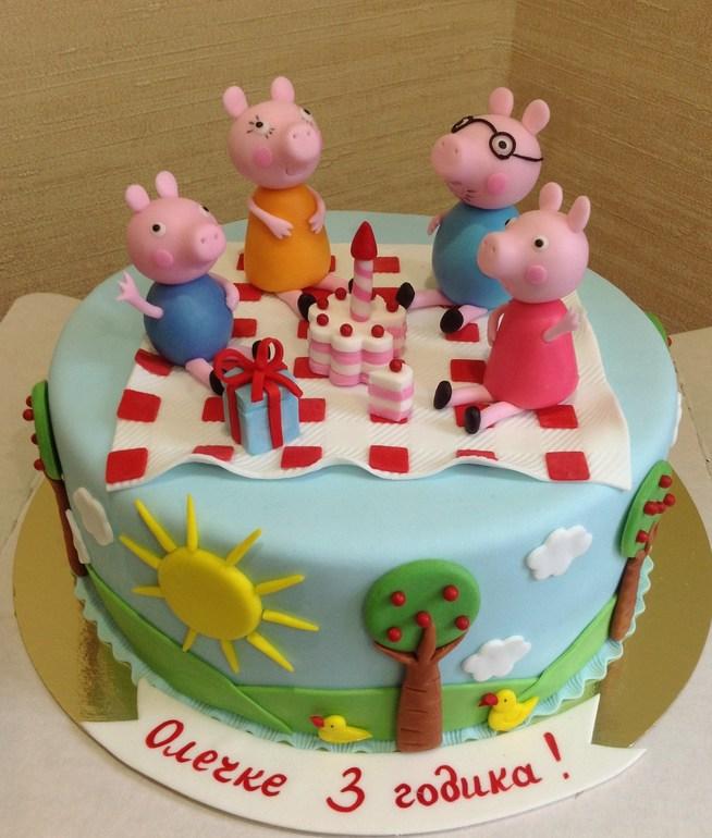 Торт со свинкой пеппой фото